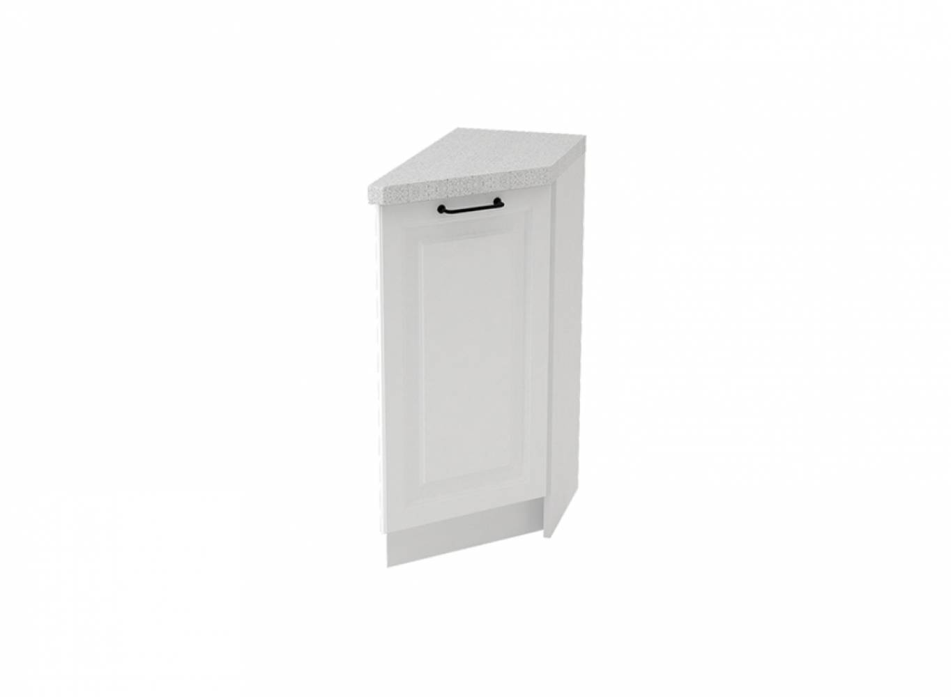 Шкаф нижний угловой торцевой правый ШНТ 300 R НИЦЦА ROYAL (BLANCO) 300 мм