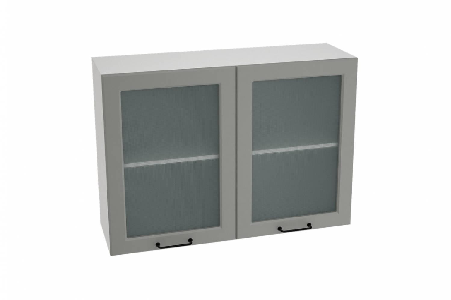 Шкаф верхний со стеклом ШВС 1000 НИЦЦА ROYAL (MAGNUM) 1000 мм