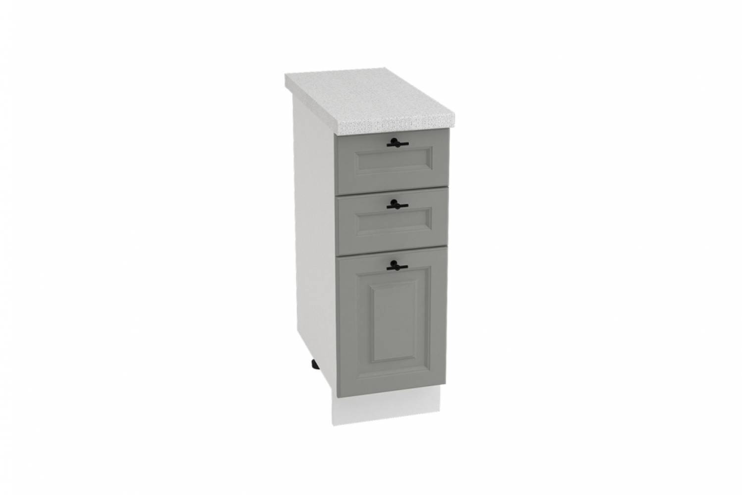 Шкаф нижний с 3 ящиками ШН3Я 300 НИЦЦА ROYAL (MAGNUM) 300 мм