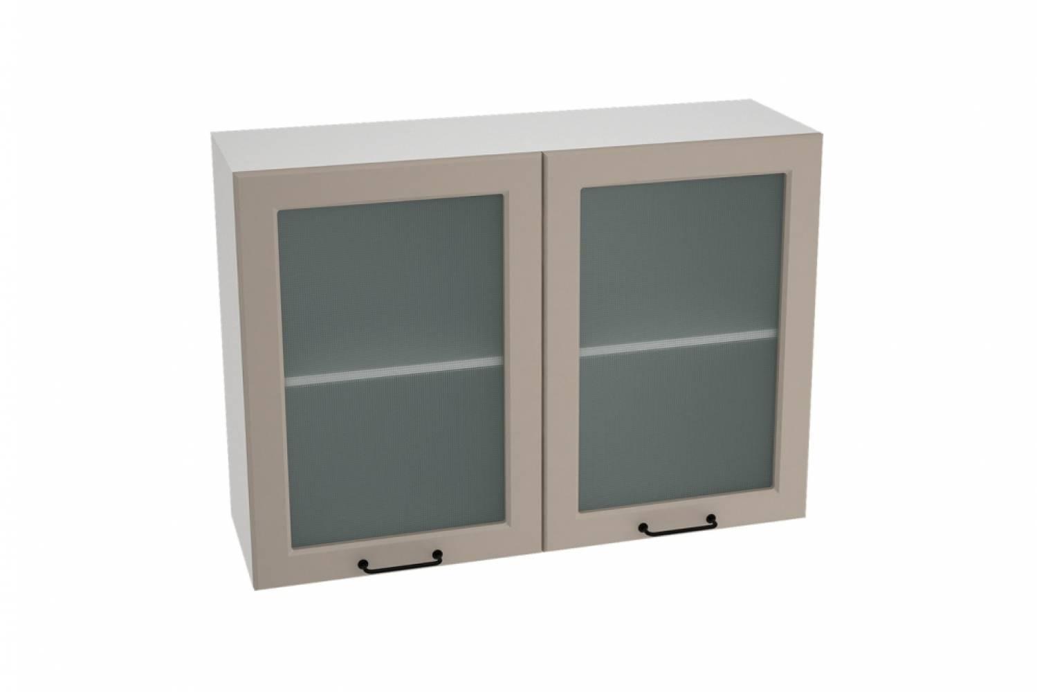 Шкаф верхний со стеклом ШВС 1000 НИЦЦА ROYAL (OMNIA) 1000 мм