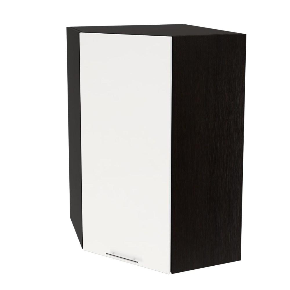 Шкаф верхний угловой высокий ШВУ 599 ВАЛЕРИЯ 1 (Белый глянец) 590 мм