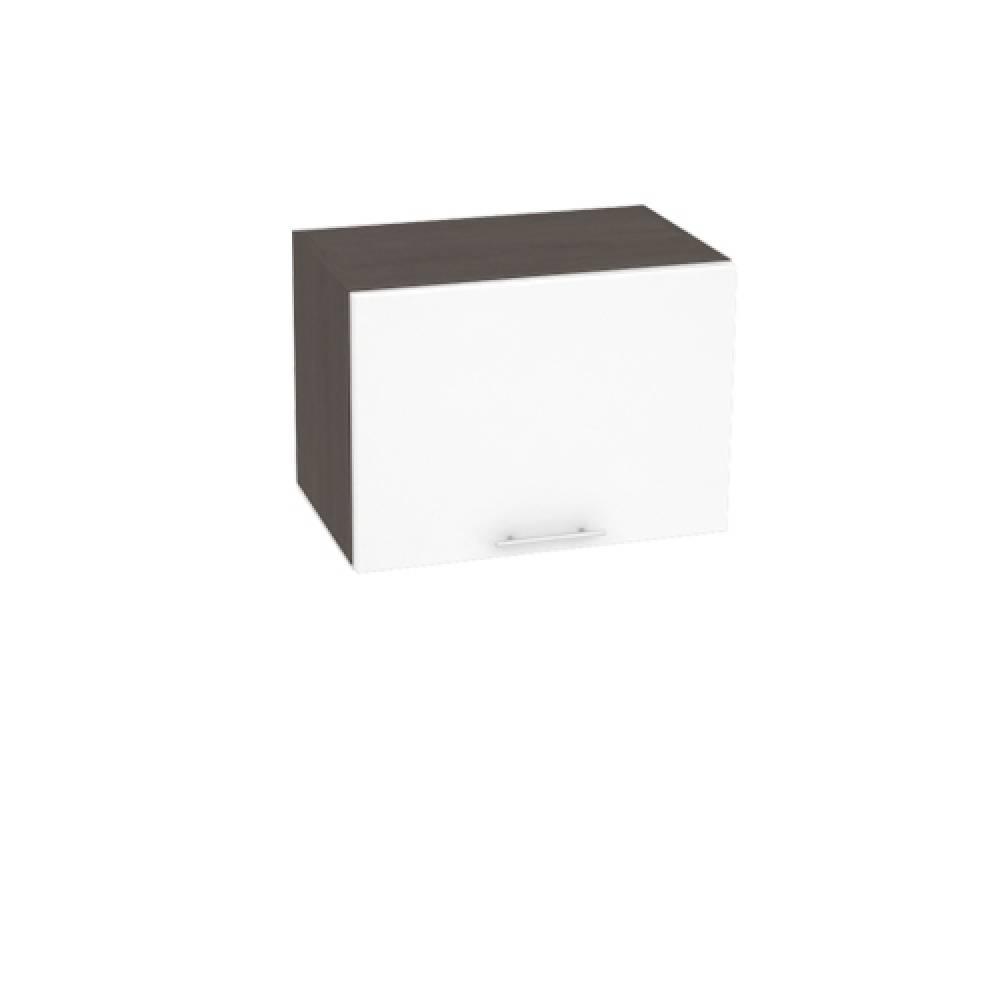 Шкаф верхний горизонтальный ШВГ 500 ВАЛЕРИЯ 1 (Белый глянец) 500 мм