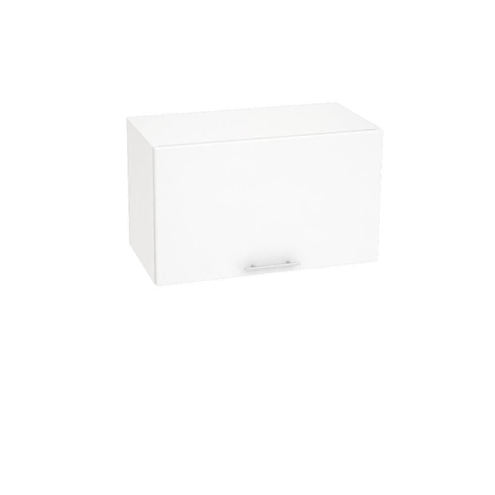Шкаф верхний горизонтальный ШВГ 600 ВАЛЕРИЯ 1 (Белый глянец) 600 мм
