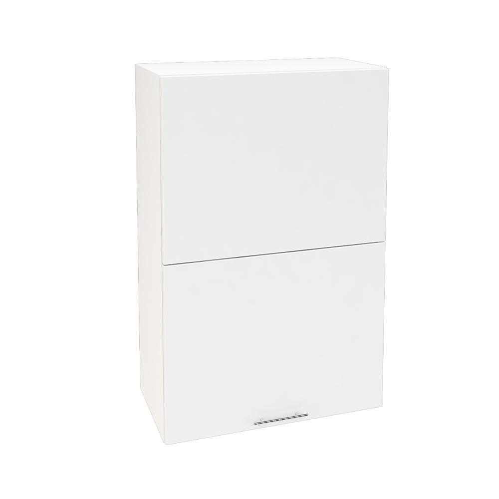 Шкаф верхний горизонтальный высокий ШВГ 602 ВАЛЕРИЯ 1 (Белый глянец) 600 мм