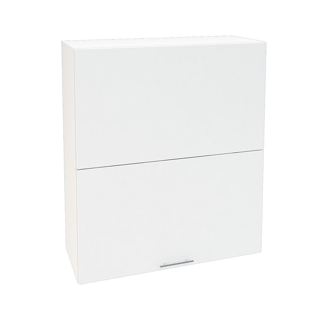 Шкаф верхний горизонтальный высокий ШВГ 802 ВАЛЕРИЯ 1 (Белый глянец) 800 мм
