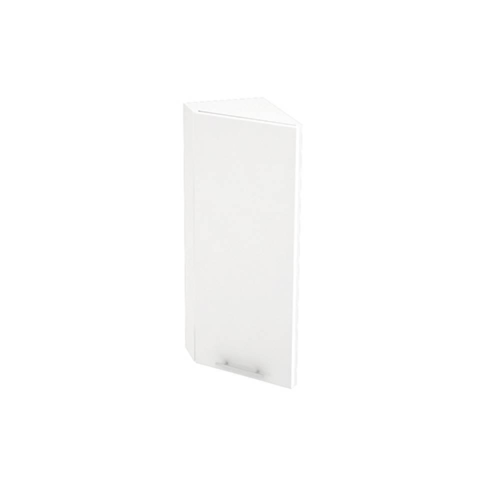 Шкаф верхний угловой торцевой ШВТ 224 ВАЛЕРИЯ 1 (Белый глянец) 224 мм