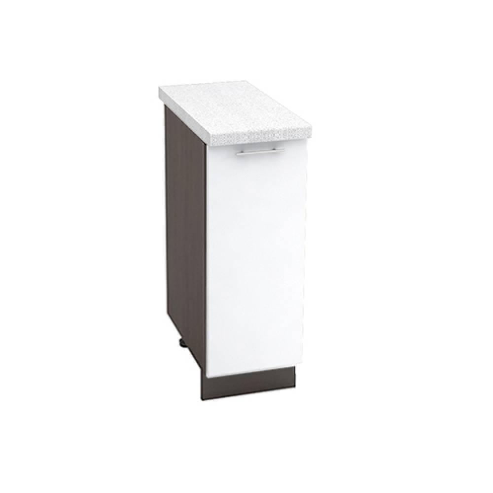 Шкаф нижний ШН 300 ВАЛЕРИЯ 1 (Белый глянец) 300 мм