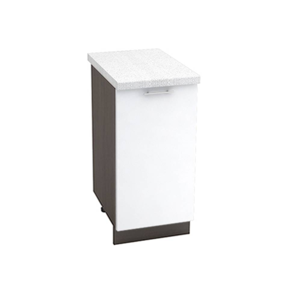 Шкаф нижний ШН 400 ВАЛЕРИЯ 1 (Белый глянец) 400 мм
