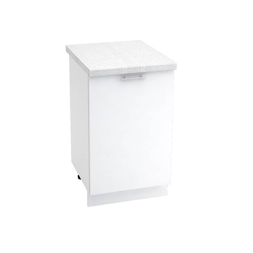 Шкаф нижний ШН 500 ВАЛЕРИЯ 1 (Белый глянец) 500 мм
