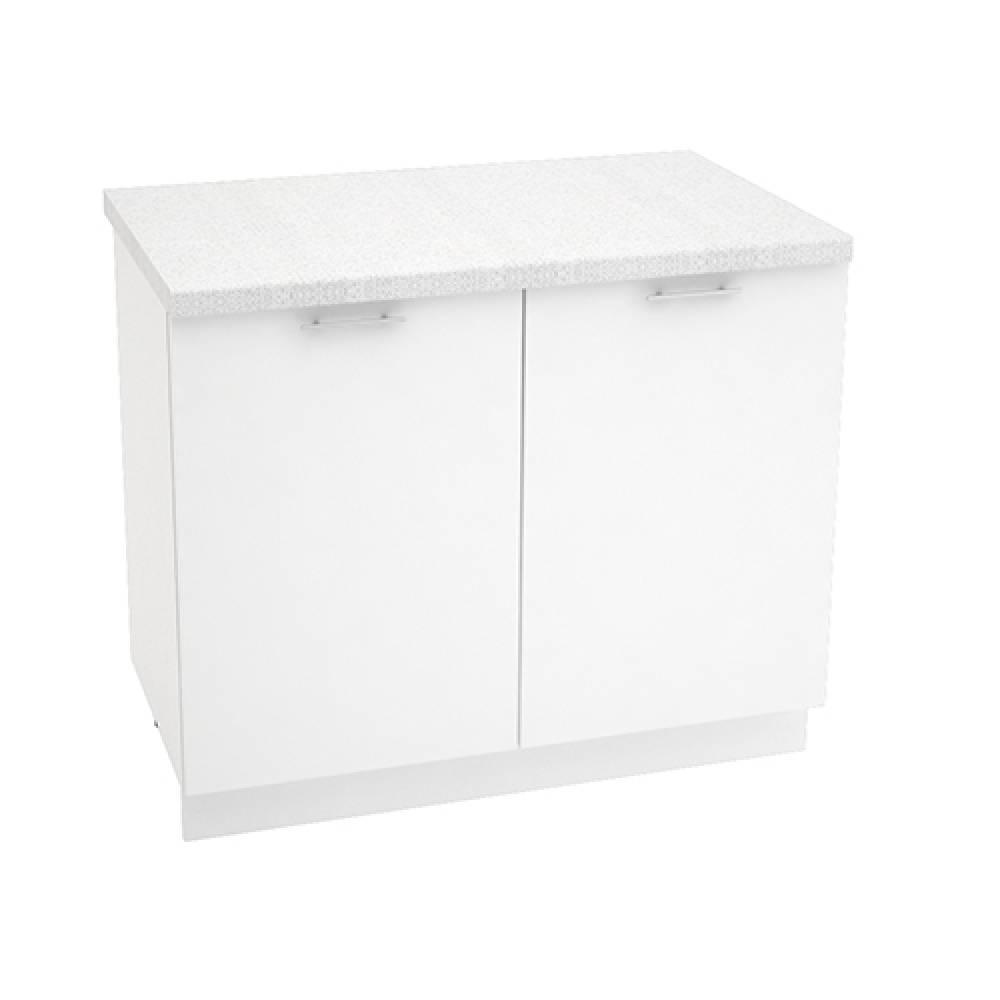 Шкаф нижний ШН 1000 ВАЛЕРИЯ 1 (Белый глянец) 1000 мм