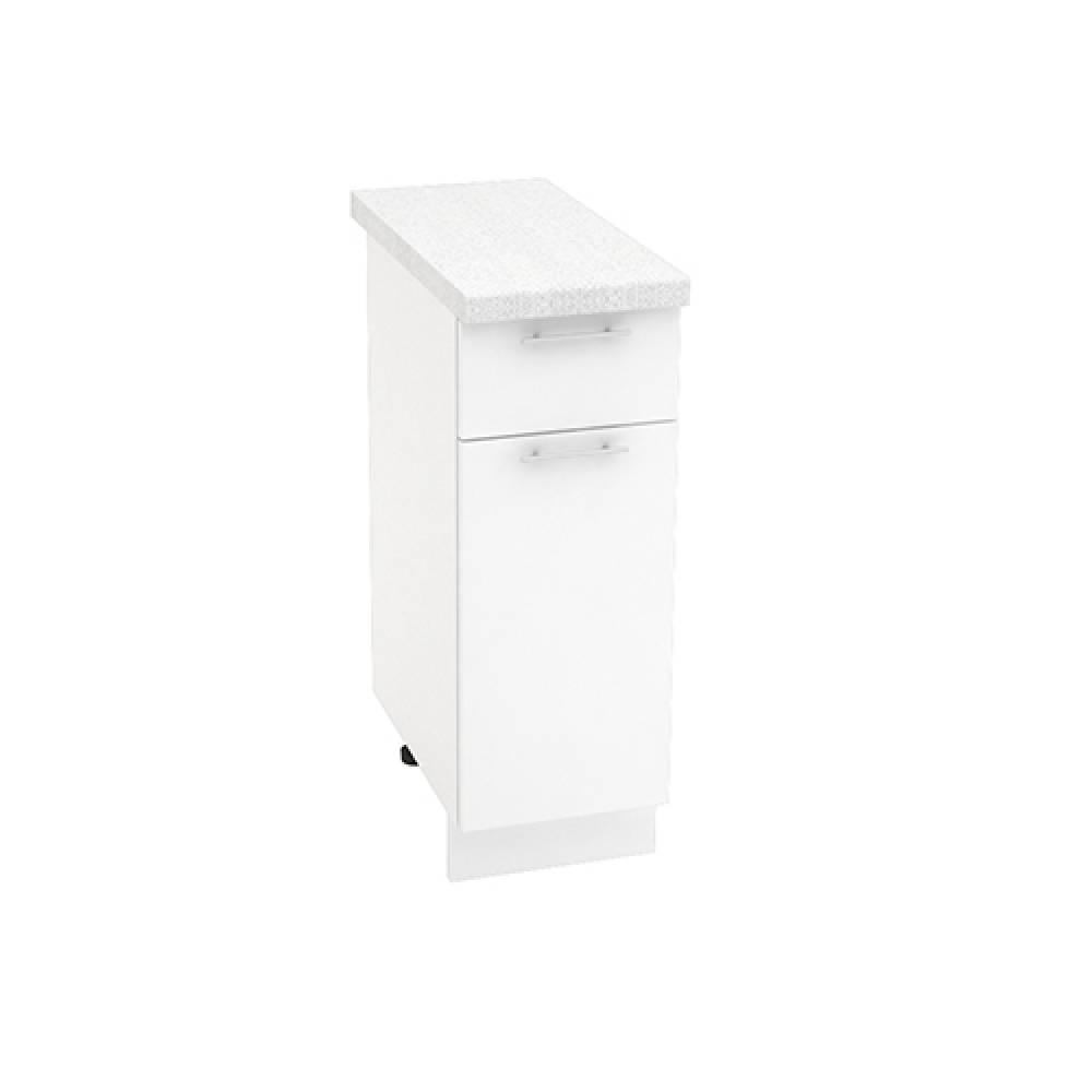 Шкаф нижний с 1 ящиком ШН1Я 300 ВАЛЕРИЯ 1 (Белый глянец) 300 мм