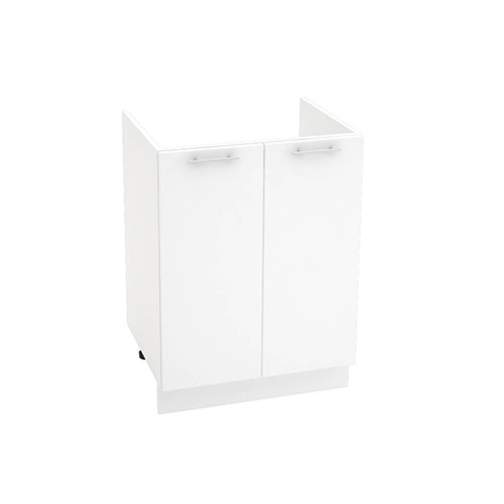 Шкаф нижний под мойку ШНМ 600 ВАЛЕРИЯ 1 (Белый глянец) 600 мм