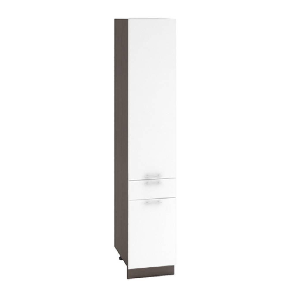 Шкаф пенал с 1 ящиком ШП 1Я 400 ВАЛЕРИЯ 1 (Белый глянец) 400 мм