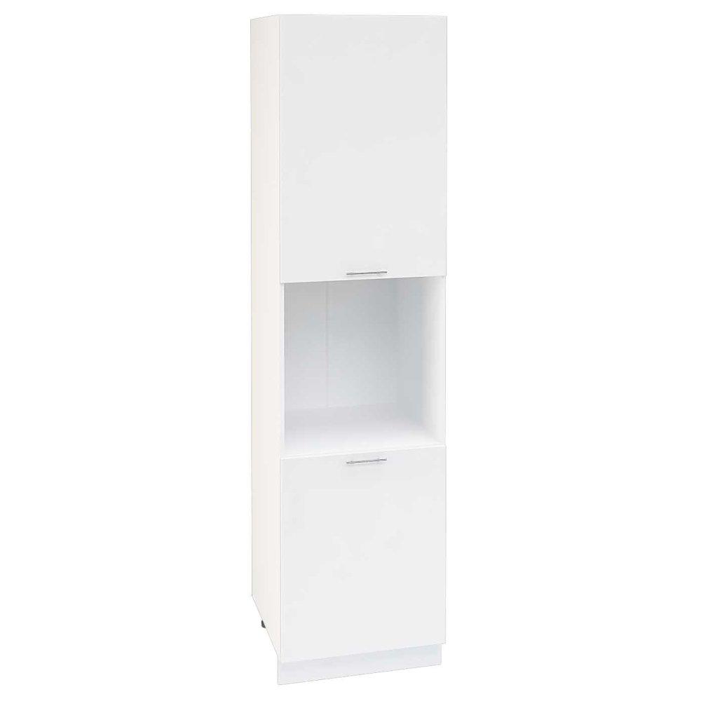 Шкаф пенал высокий ШП 600Н ВАЛЕРИЯ 1 (Белый глянец) 600 мм