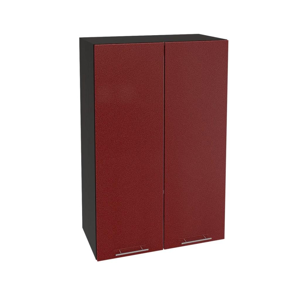 Шкаф верхний высокий ШВ 609 ВАЛЕРИЯ 2 (Гранатовый металлик) 600 мм