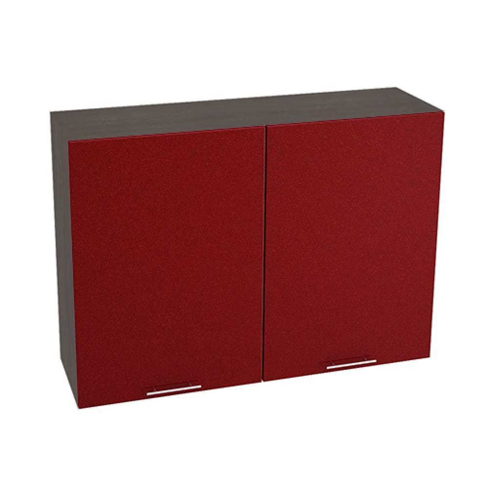 Шкаф верхний ШВ 1000 ВАЛЕРИЯ 2 (Гранатовый металлик) 1000 мм