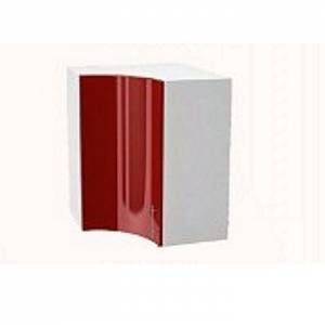Шкаф верхний угловой радиусный ШВУ 590S ВАЛЕРИЯ 2 (Гранатовый металлик) 590