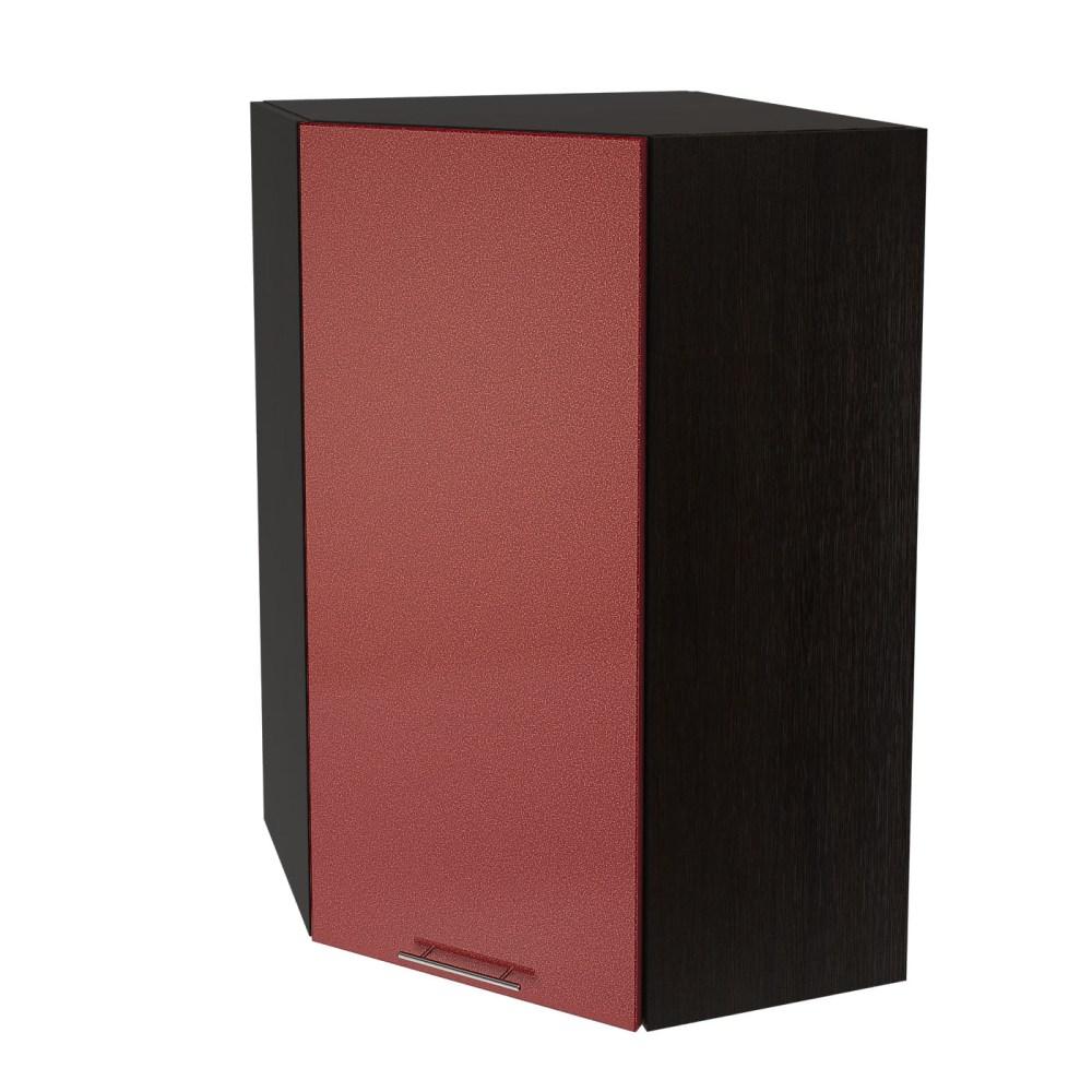 Шкаф верхний угловой высокий ШВУ 599 ВАЛЕРИЯ 2 (Гранатовый металлик) 590 мм