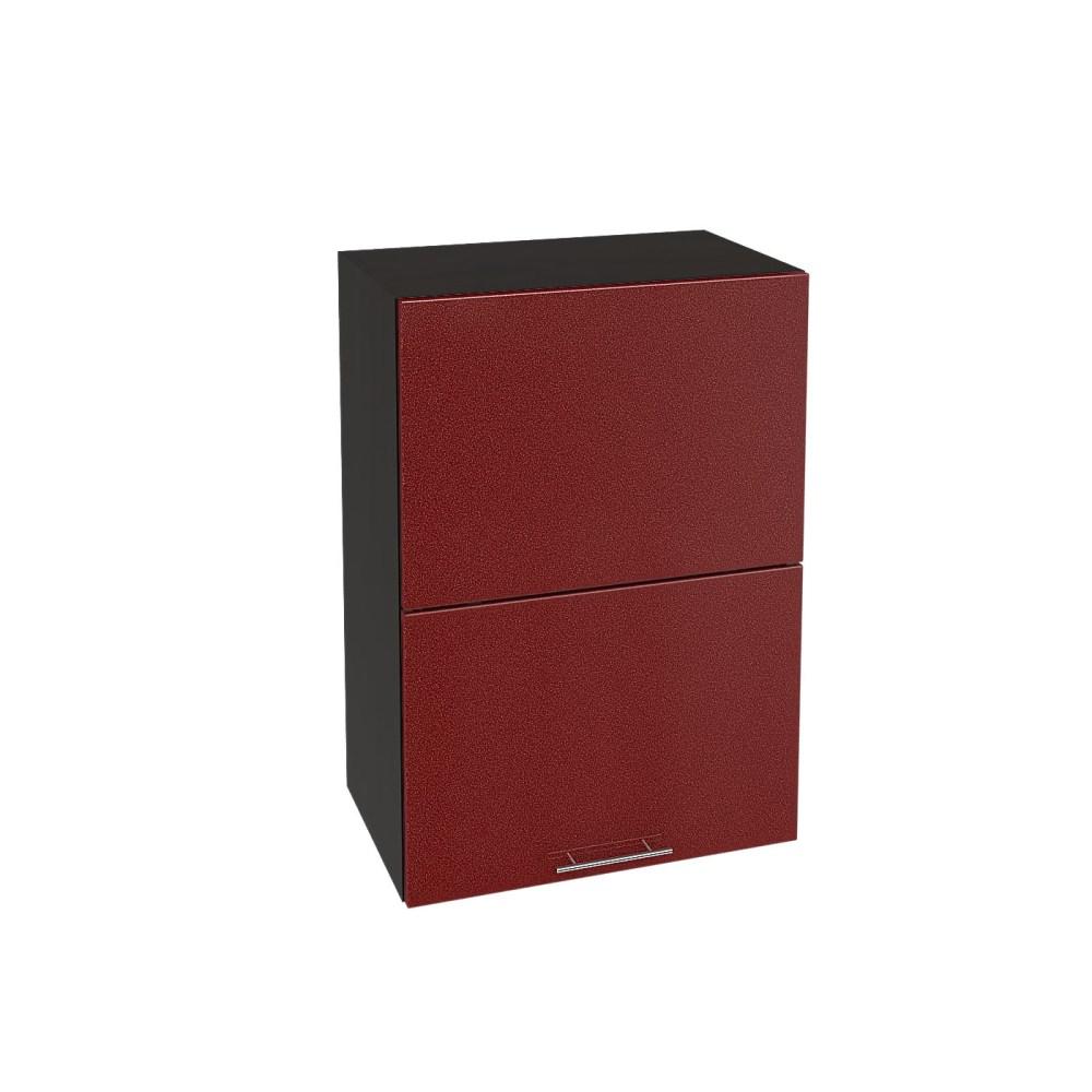 Шкаф верхний горизонтальный ШВГ 501 ВАЛЕРИЯ 2 (Гранатовый металлик) 500 мм