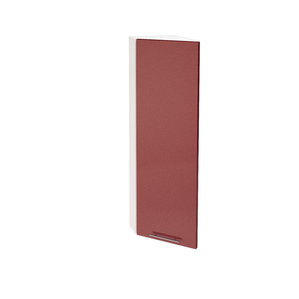 Шкаф верхний угловой торцевой высокий ШВТ 224Н ВАЛЕРИЯ 2 (Гранатовый металлик) 224 мм