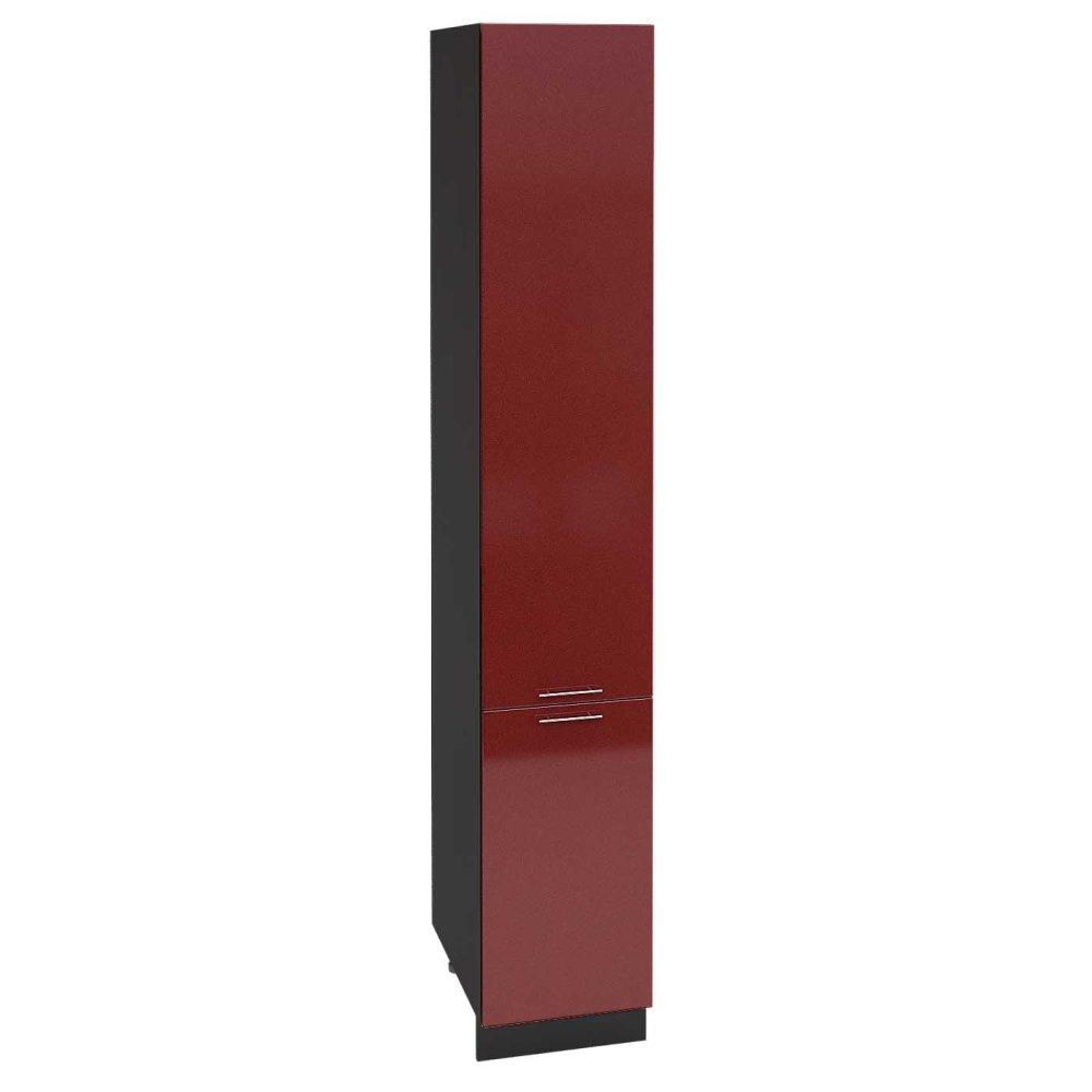 Шкаф пенал высокий ШП 400Н ВАЛЕРИЯ 2 (Гранатовый металлик) 400 мм