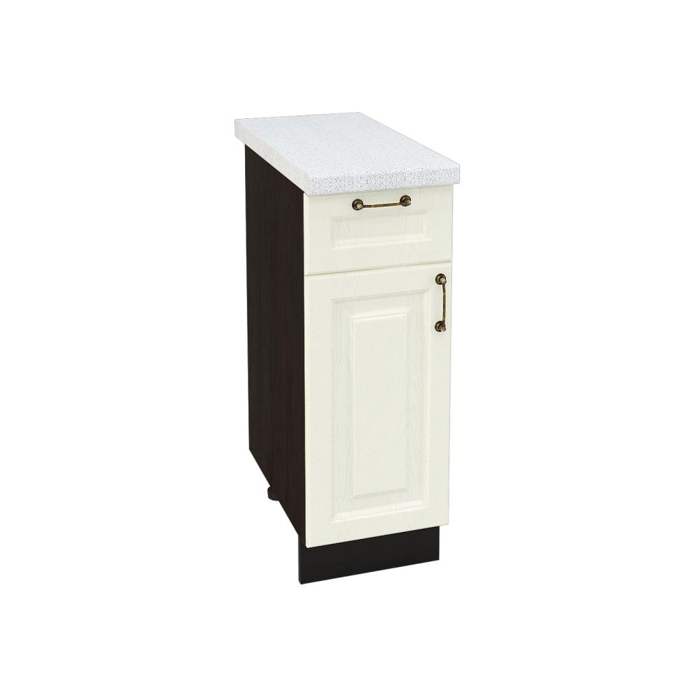 Шкаф нижний с 1 ящиком ШН1Я 300 НИЦЦА (Дуб фактурный Кремовый) 300 мм