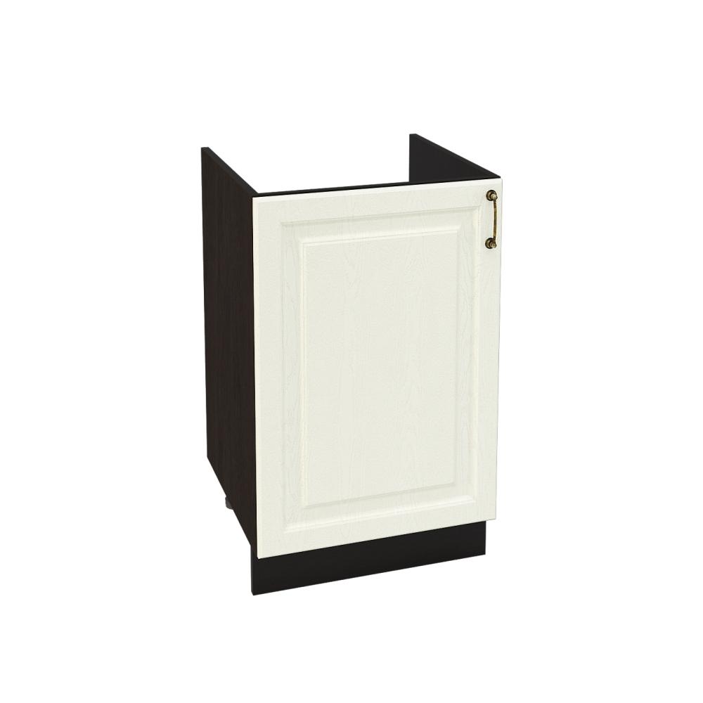 Шкаф нижний под мойку ШНМ 500 НИЦЦА (Дуб фактурный Кремовый) 500 мм