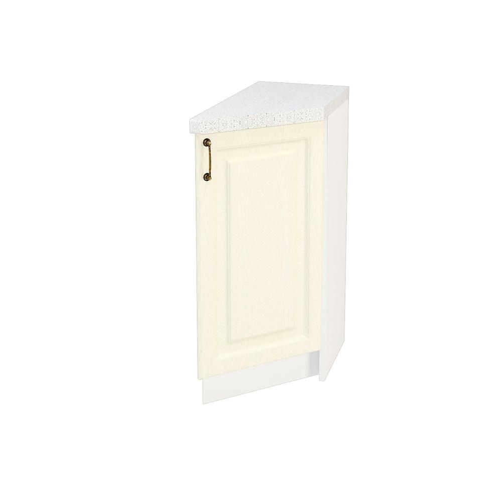 Шкаф нижний угловой торцевой правый ШНТ 300 R НИЦЦА (Дуб фактурный Кремовый) 300 мм