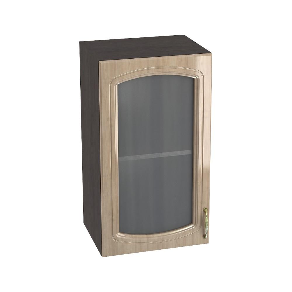 Шкаф верхний со стеклом ШВС 400 СИТИ (Анегри глянец) 400 мм