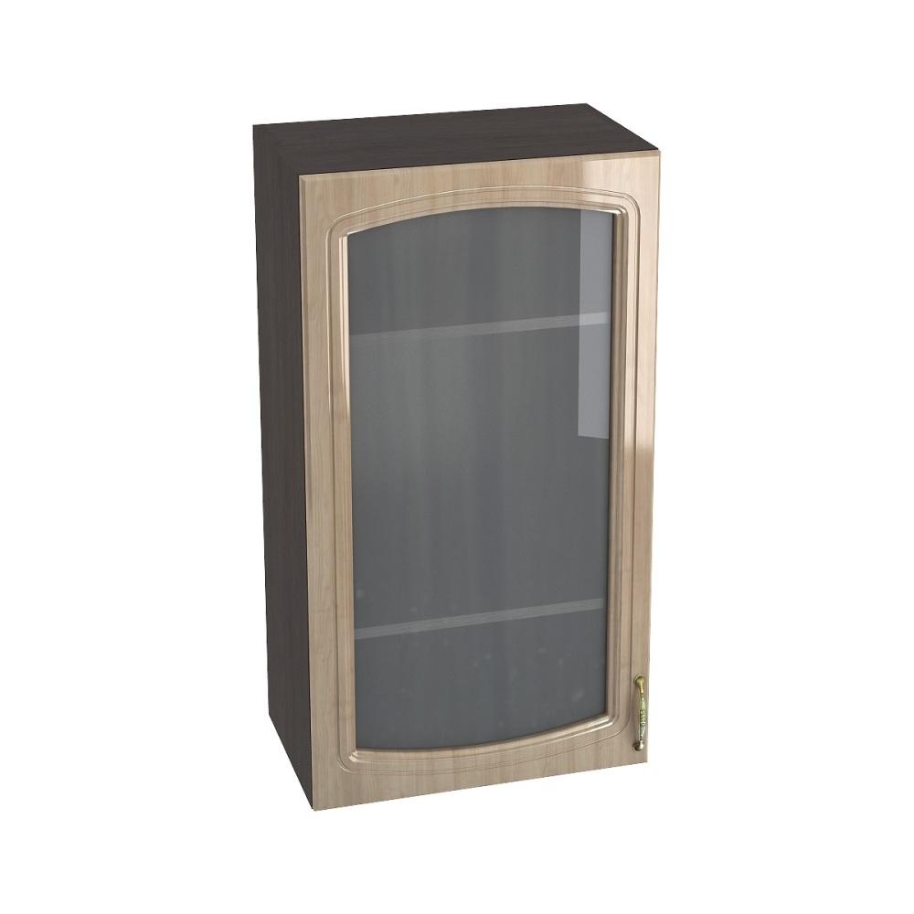 Шкаф верхний со стеклом высокий ШВС 509 СИТИ (Анегри глянец) 500 мм