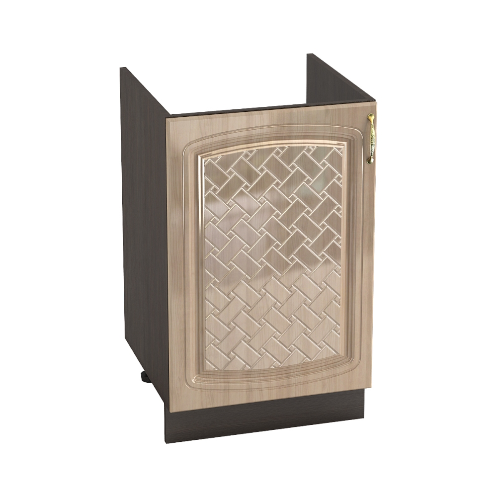 Шкаф нижний под мойку ШНМ 500 СИТИ (Анегри глянец) 500 мм