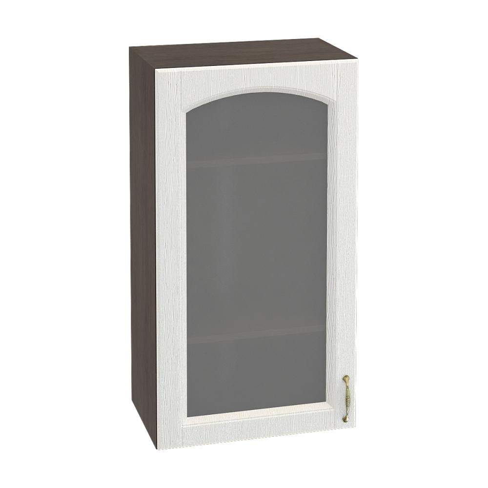 Шкаф верхний со стеклом высокий ШВС 509 ВЕРОНА (Ясень золото) 500 мм