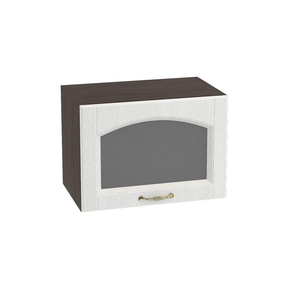 Шкаф верхний горизонтальный со стеклом ШВГС 500 ВЕРОНА (Ясень золото) 500 мм
