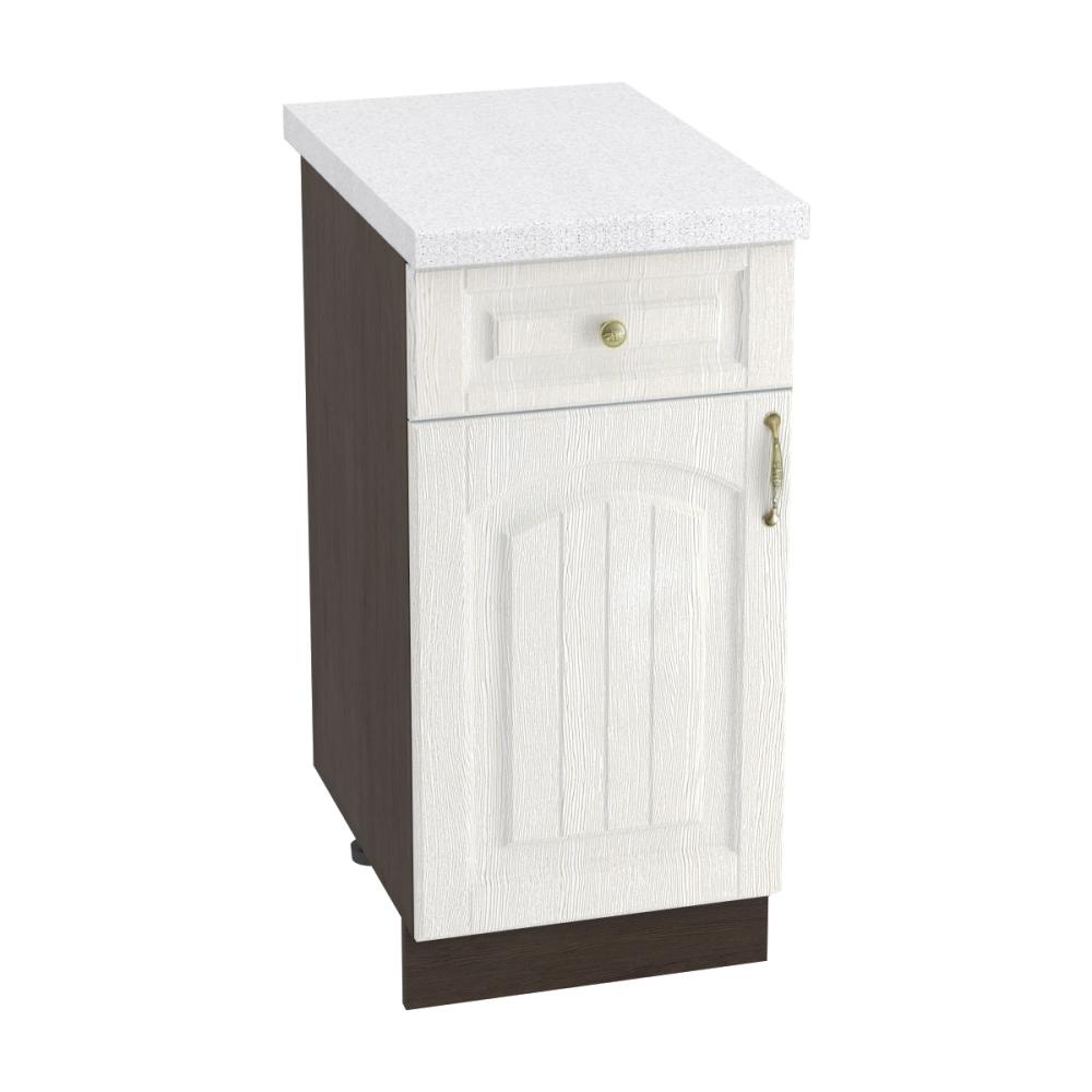 Шкаф нижний с 1 ящиком ШН1Я 400 ВЕРОНА (Ясень золото) 400 мм