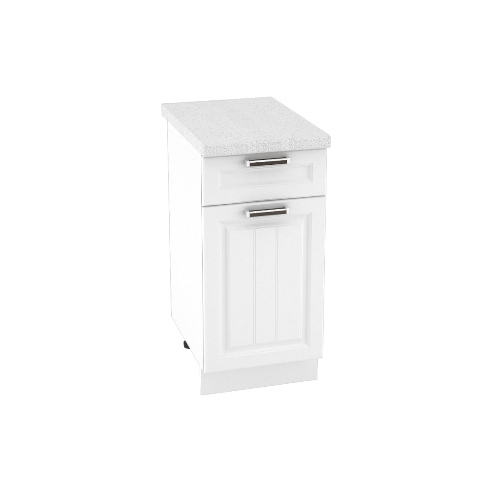 Шкаф нижний с 1 ящиком ШН1Я 400 ПРАГА (Белое дерево) 400 мм