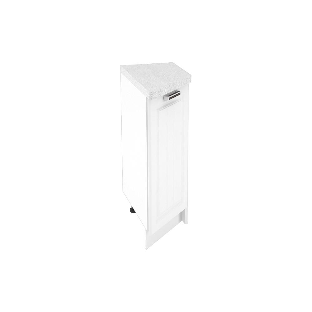 Шкаф нижний угловой торцевой правый ШНТ 300 R ПРАГА (Белое дерево) 300 мм