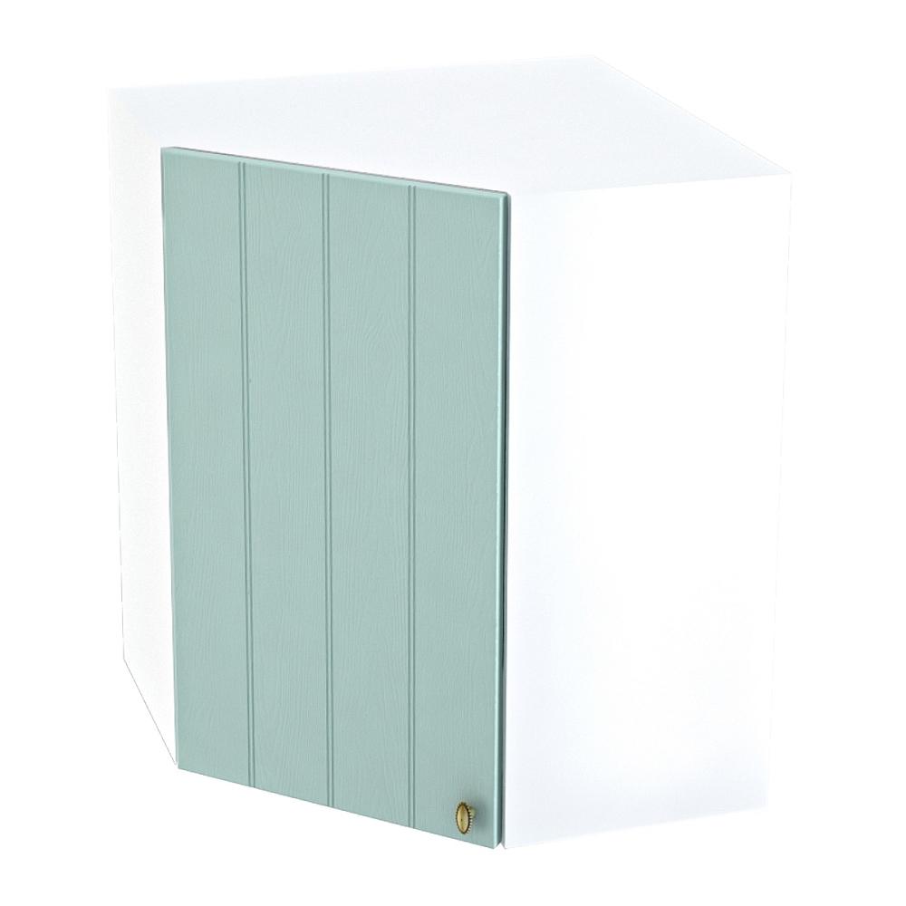 Шкаф верхний угловой ШВУ 590 ПРОВАНС (Голубой) 590 мм