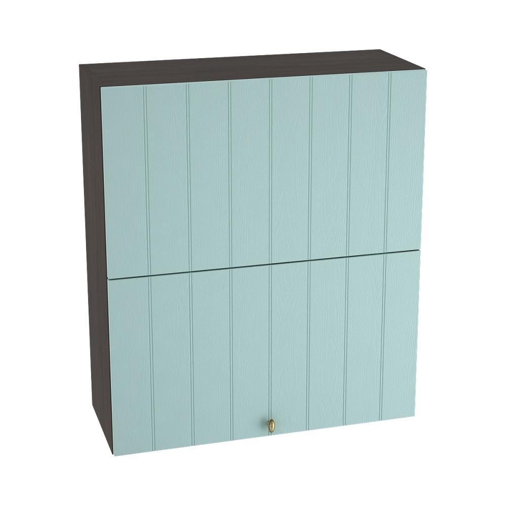 Шкаф верхний горизонтальный высокий ШВГ 802 ПРОВАНС (Голубой) 800 мм