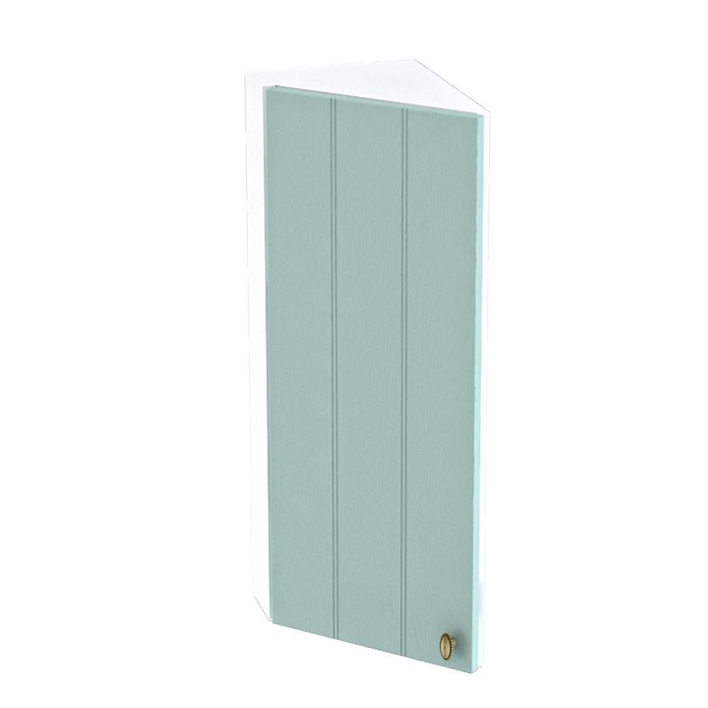 Шкаф верхний угловой торцевой левый ШВТ 224 ПРОВАНС (Голубой) 224 мм