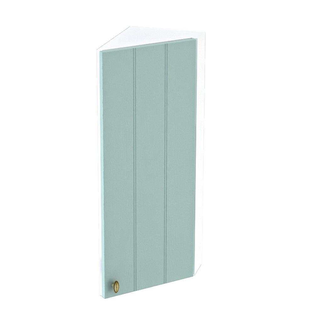 Шкаф верхний угловой торцевой правый ШВТ 224 ПРОВАНС (Голубой) 224 мм