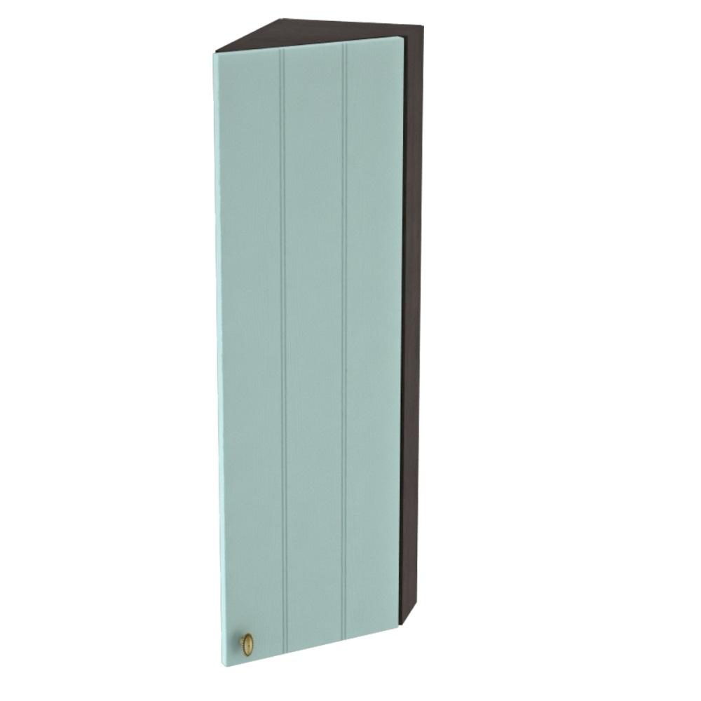 Шкаф верхний угловой торцевой высокий правый ШВТ 224Н ПРОВАНС (Голубой) 224 мм