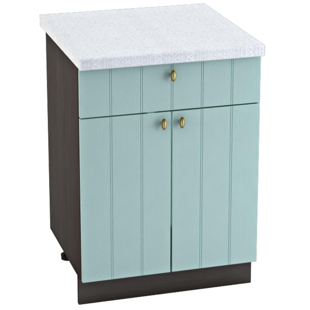 Шкаф нижний с 1 ящиком ШН1Я 600М ПРОВАНС (Голубой) 600 мм