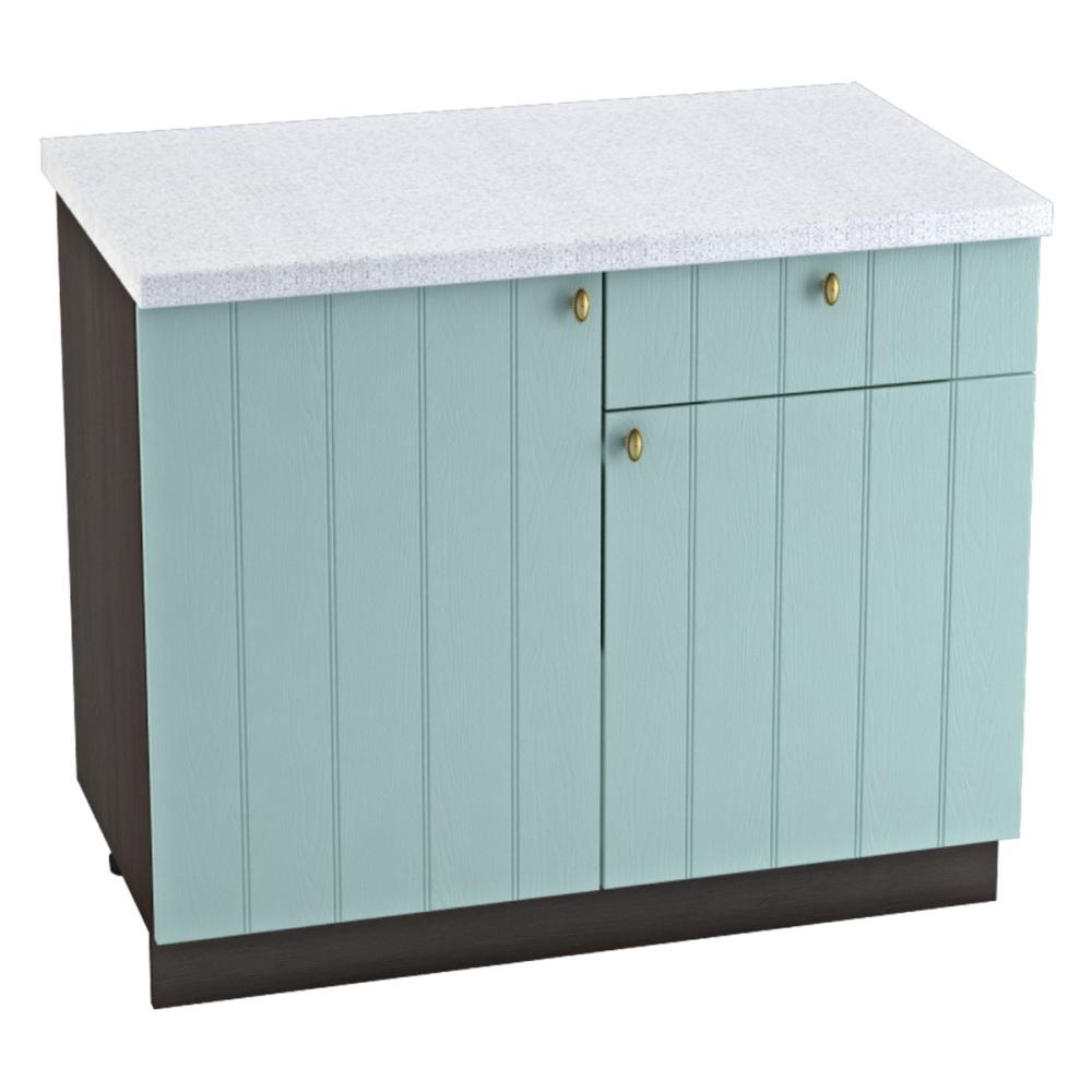 Шкаф нижний с 1 ящиком ШН1Я 1000 ПРОВАНС (Голубой) 1000 мм