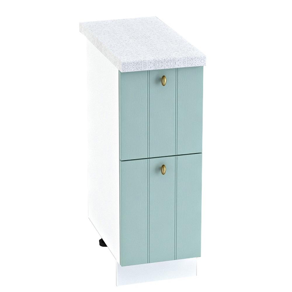 Шкаф нижний с 2 ящиками ШН2Я 300 ПРОВАНС (Голубой) 300 мм