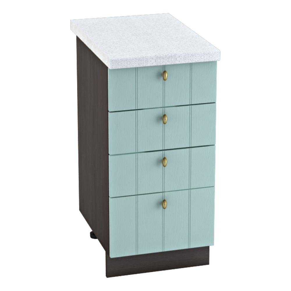Шкаф нижний с 4 ящиками ШН4Я 400 ПРОВАНС (Голубой) 400 мм
