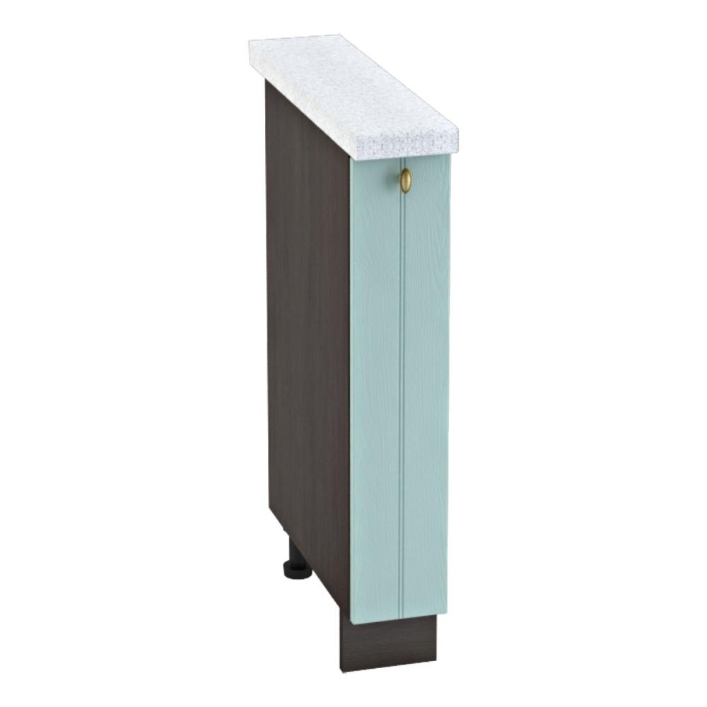 Шкаф нижний бутылочница ШНБ 150 ПРОВАНС (Голубой) 150 мм