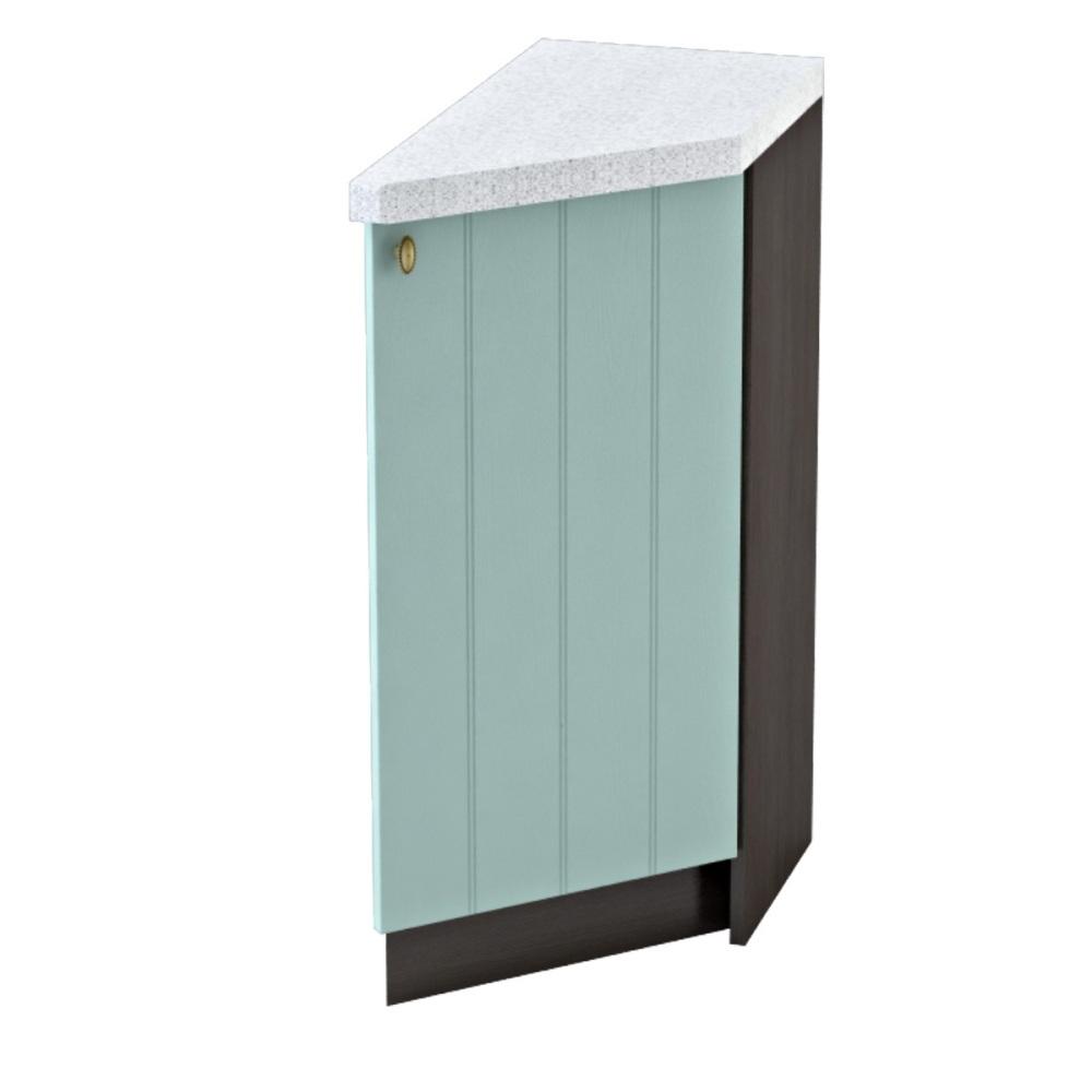 Шкаф нижний угловой торцевой правый ШНТ 300 R ПРОВАНС (Голубой) 300 мм