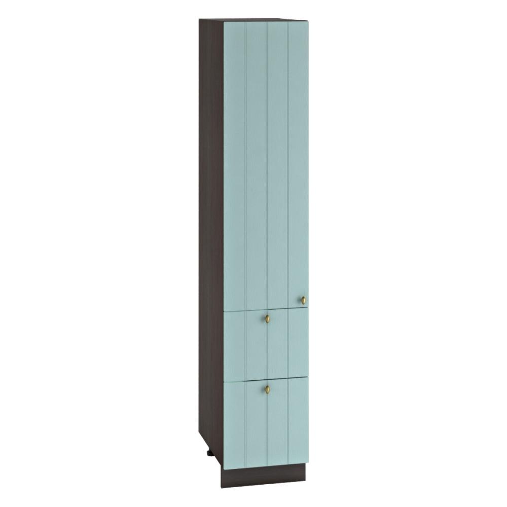 Шкаф пенал с 2 ящиками ШП 2Я 400 ПРОВАНС (Голубой) 400 мм