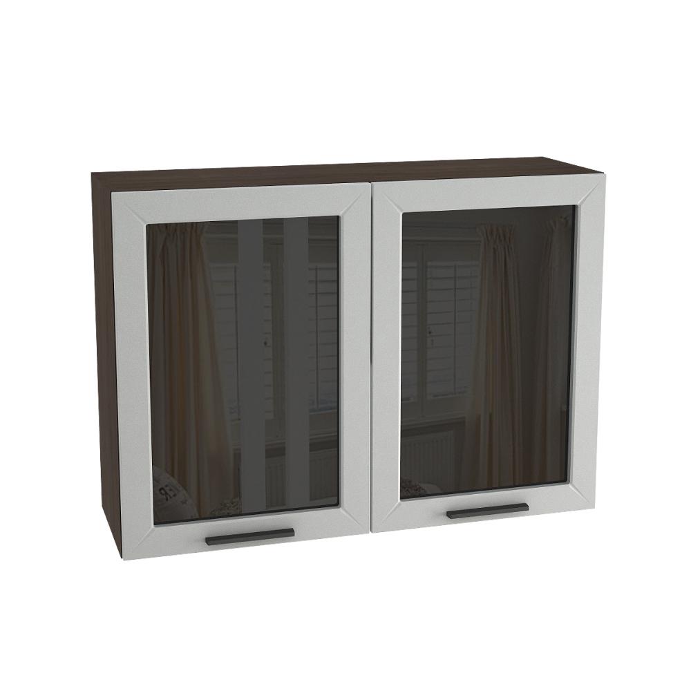 Шкаф верхний со стеклом ШВС 1000 ГЛЕТЧЕР (Гейнсборо) 1000 мм