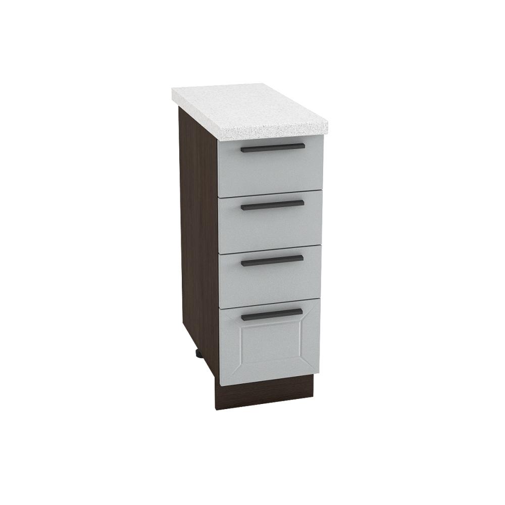 Шкаф нижний с 4 ящиками ШН4Я 300 ГЛЕТЧЕР (Гейнсборо) 300 мм